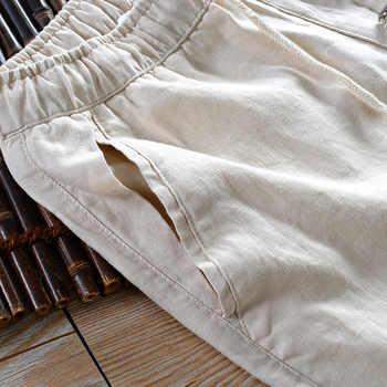 Summer autumn white pants men linen brand trousers men flax long elastic loose pants mens 30-40 size 5 colors pantalon hombre