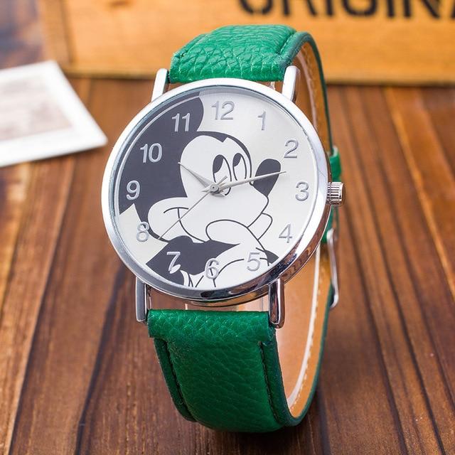 Fashion Watches Children Women Ladies Girl Leather Quartz Watch Kids Clock carto