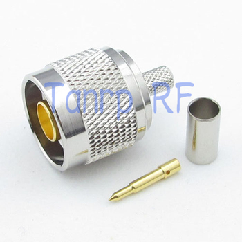 Free ship! 50PCS/lots N male plug  RF connector adapter crimp for RG58 RG142 RG400 LMR195 Cable wholesale