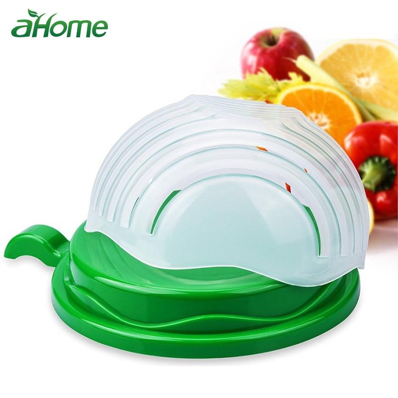 60 segundos ensalada de tazón fácil ensalada de herramientas de cocina vegetal de la fruta frutas cortador rápido accesorios de cocina
