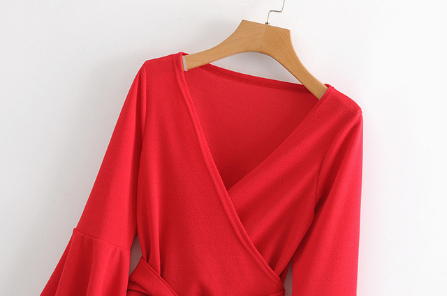 American fashion sleeve blouse 3