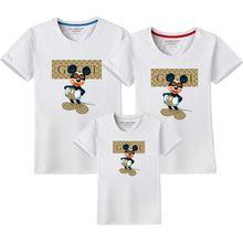 69b3bc0a2 2019 Summer Mickey Print Tees Goofy T-shirt Women Men Child Tops Hip Hop  Casual