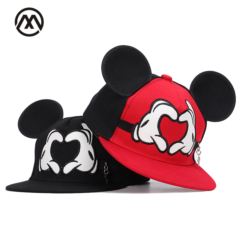 Apparel Accessories Boy's Hats Good Boys And Girls Universal Adjustable High Quality Outdoor Sunshade Summer Mesh Cap Childrens Hip Hop Cap Streetwear Mickey Kids Invigorating Blood Circulation And Stopping Pains