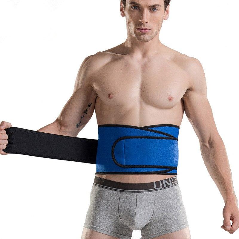 все цены на Men's Belt Adjustable Waist Support Elastic Men Belt Lumbar Protector Fitness Belt Climbing Riding Lumbar Support онлайн