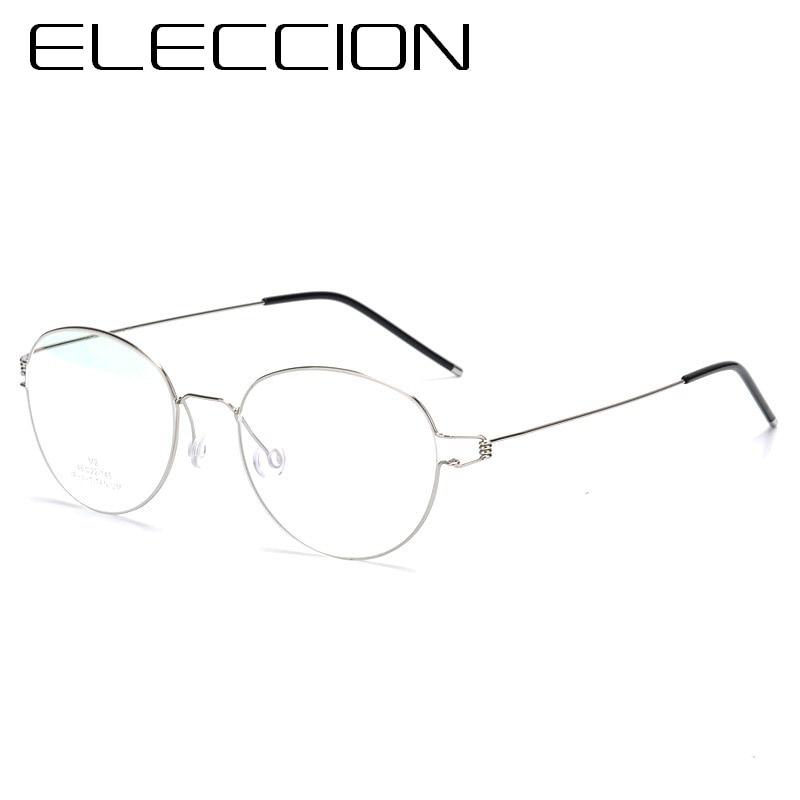 98f0b23b553 ELECCION 2018 New Screwless Round Frame Glasses for Men Korean Morten Style  Fashion Ultra light Titanium Frame Eyeglasses-in Eyewear Frames from  Apparel ...