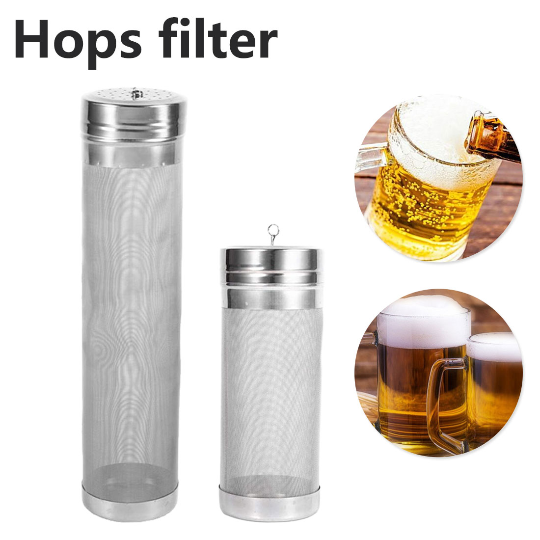 Home Coffee Dry Hopper Home Brew 300 Micron Stainless Steel Hop Spider Mesh Beer Filter With Hook For Homemade Brew