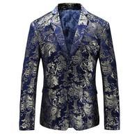 FLower Print Blazers Mens Red Gold Baroque Blazers Mens Fancy Royal Blue Luxury Blazers Mens Dress