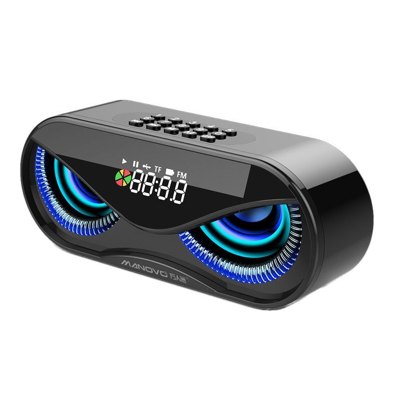 Hibou réveil haut-parleur coloré pulsation respiration lampe affichage numérique haut-parleurs TF carte/U disque FM Bluetooth Mode de lecture