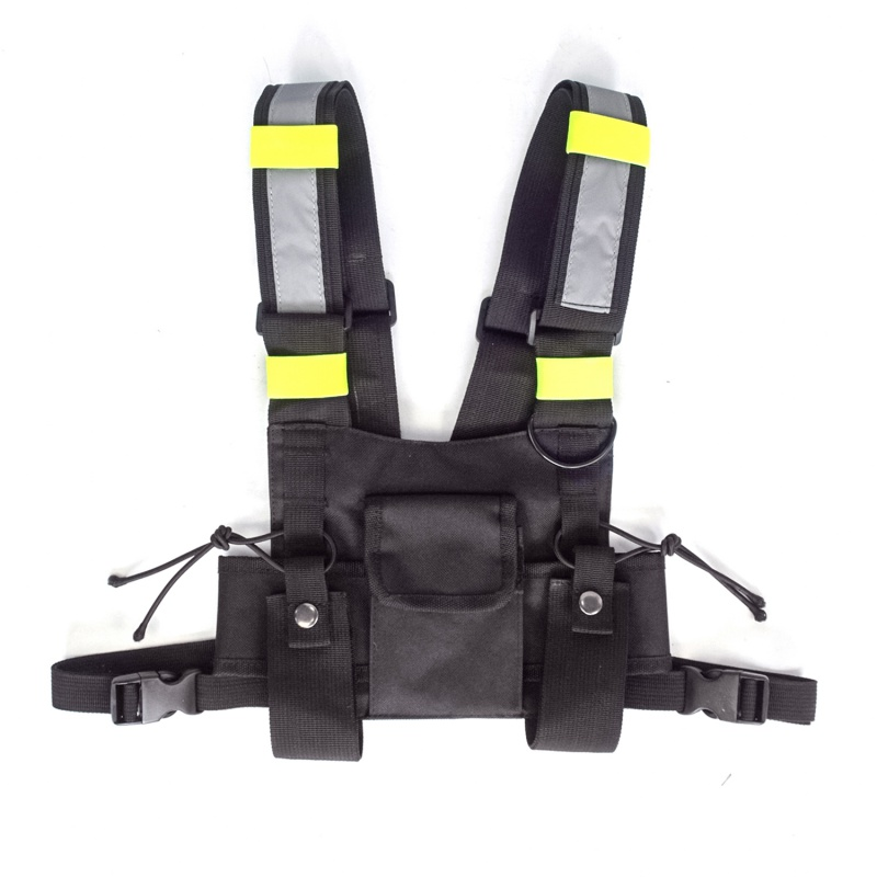 Radio Harness Chest Front Pack Pouch Holster Vest Rig bag for Walkie Talkie Tactical Headsets & AccessoriesRadio Harness Chest Front Pack Pouch Holster Vest Rig bag for Walkie Talkie Tactical Headsets & Accessories