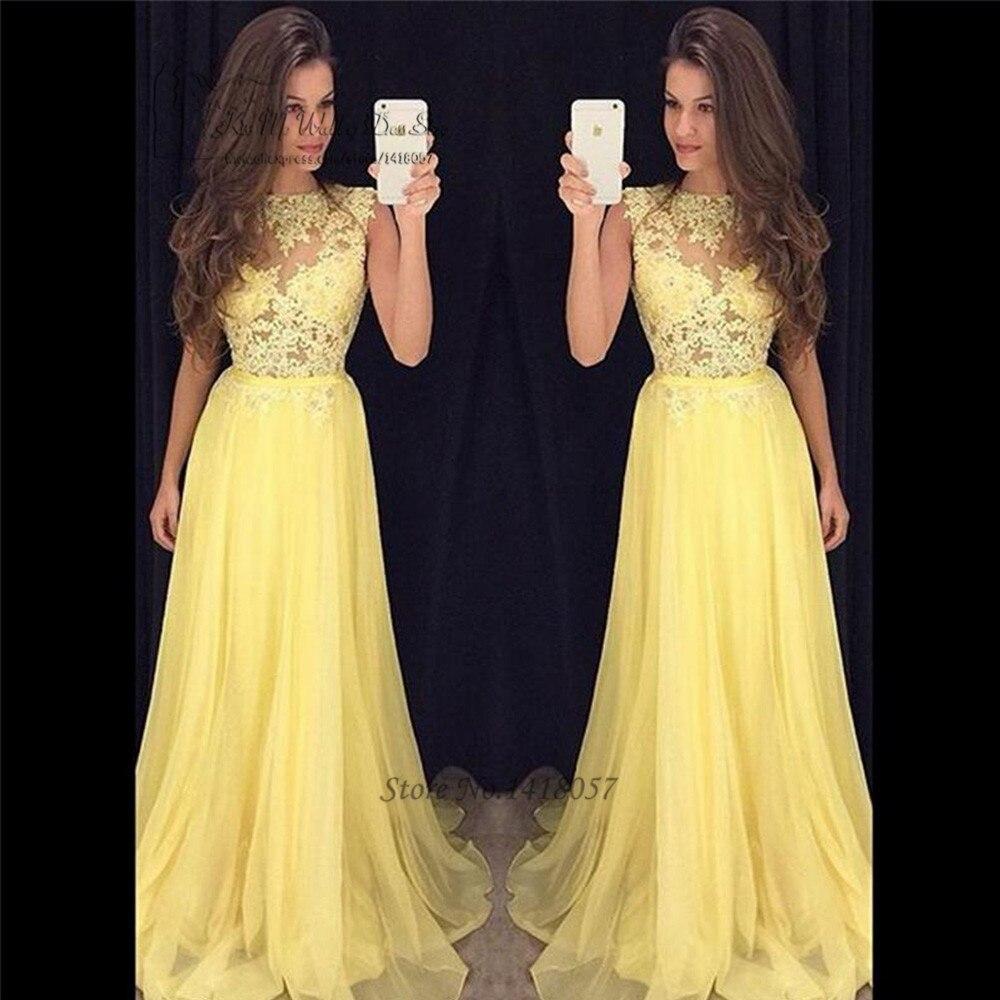Vestido De Fiesta Largo Amarillo Ken Chad Consulting Ltd