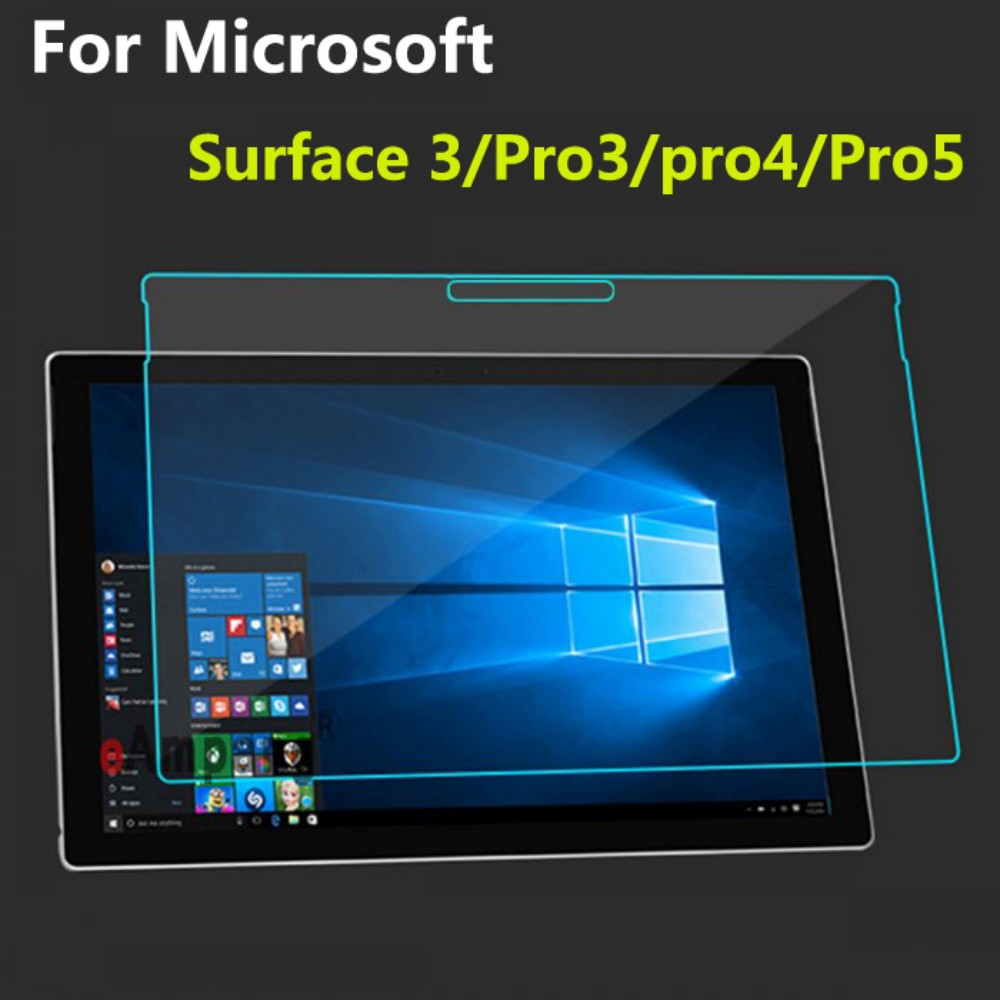 Tempered Glass for Microsoft Surface 3 Pro 3 Pro 4 Pro 5 Cover Full Screen Protective Film Scratchproof Tablet Screen Protector benks tempered glass for xiaomi 5 2 5d radians screen protector