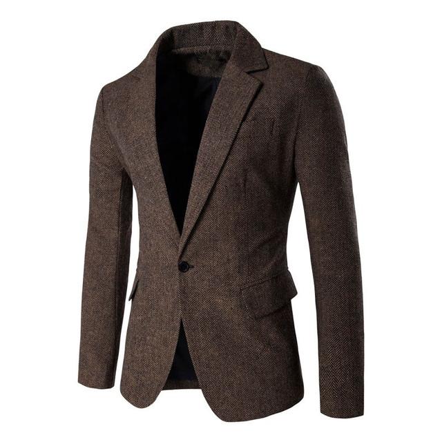 2017 Nova Moda Casual Homens Blazer De Algodão Poliéster Listrado Jaqueta Blazer Fino Terno Blazer Masculino Ternos Masculinos Plus Size