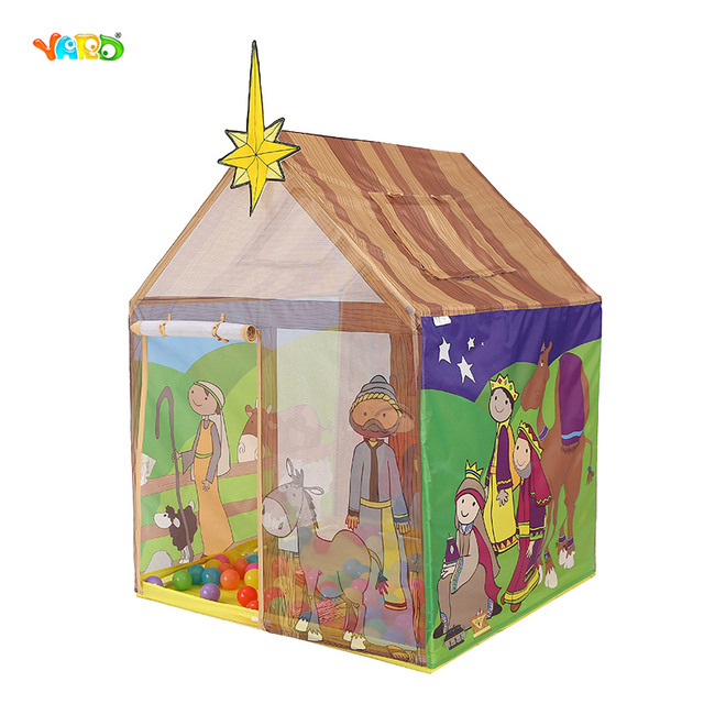 Kids Toy Tents Cartoon Printing Portable Play House Baby Boy Girl ...