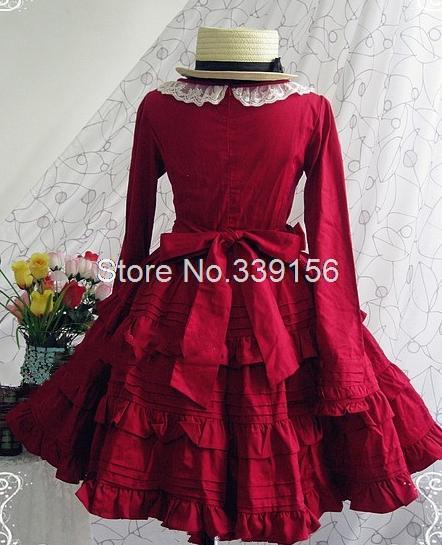 Dress Rouge Collar Robe Pan Bal Mode Lolita Lady Et Vintage Gothique Party Bohème 2017 Peter De 5Z0UqFF
