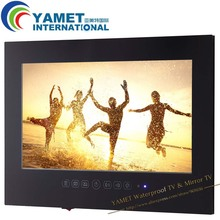 Envío libre 22 pulgadas WIFI full HD 1080 P baño TV Internet TV Espejo Impermeable tv TV