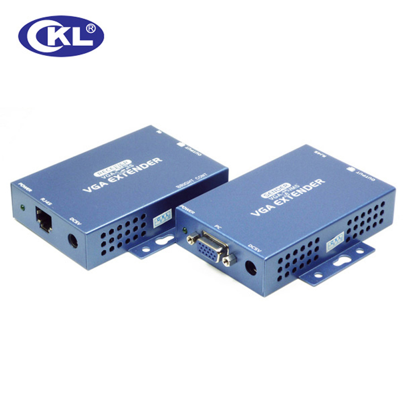 CKL 100/150/300 Meter VGA Audio Extender Over Cat5e With 1.5m Cable Support VGA, SVGA, XGA, SXGA And Multisync Monitors Metal