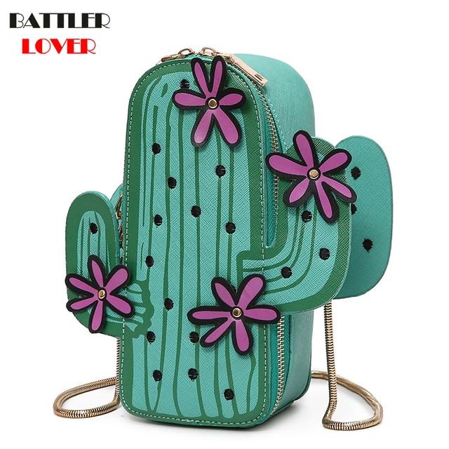 f4d99d96c5a0 Cactus Shape Handbags Women Fashion Handbag Women Luxury Brand Shoulder  Bags Messenger Bags Female Crossbody Bags