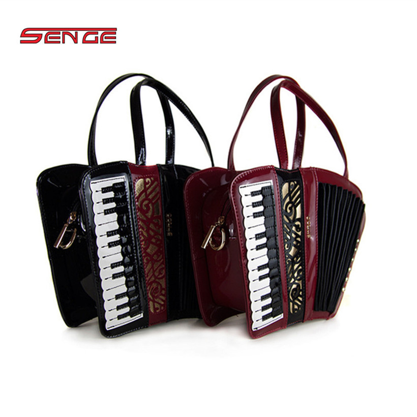 Women Shoulder Bag Italy Braccialini Handbag Organist guitar violin style bags Ladies bag Brand Designer music totes gifts