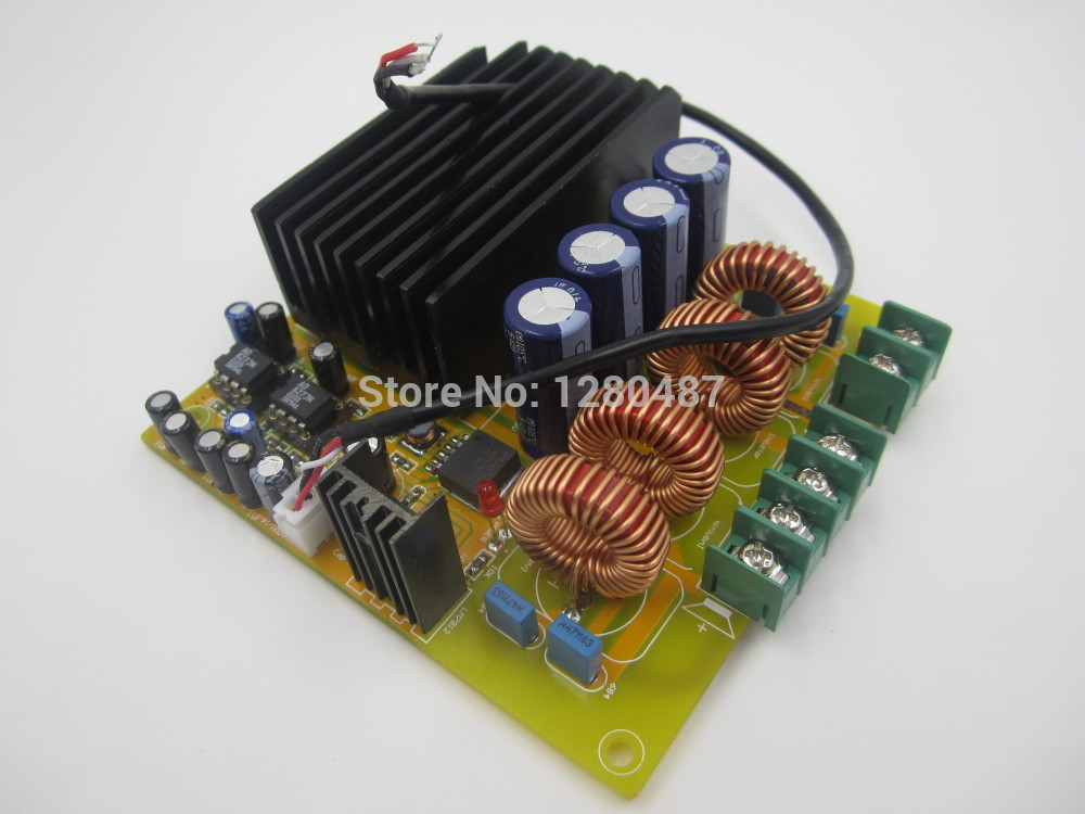 1pcs Dual Channel 2x 300W TAS5630 Class-D Digital Audio Amplifier Board HIFI AD827 yjhifi tas5630 opa1632dr audio high power digital amplifier board class d 2 300w dc50v hifi diy deluxe edition