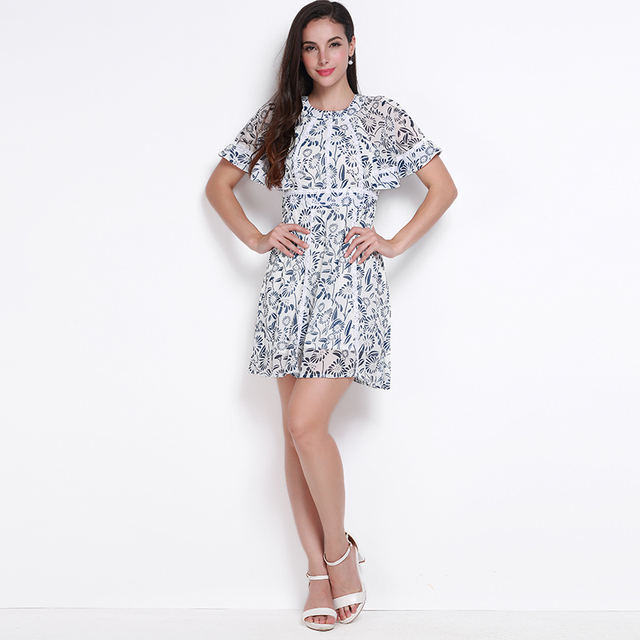 14e57488f56eb US $23.32 |MY MAYAASOS Lace Patchwork Vintage Floral Print Mini Dress  Batwing Sleeve Backless A line Dress High Waist Strap Slim Party -in  Dresses ...