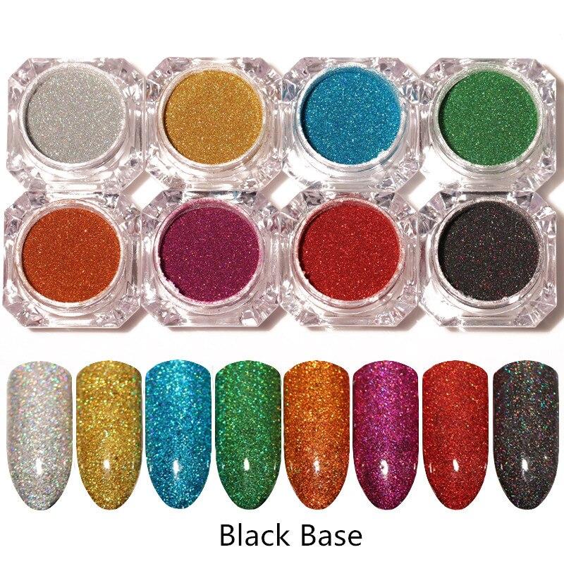 Schönheit & Gesundheit 1 Gr/schachtel Holographische Laser Pulver Nagel Glitter Holo Chrom Staub Maniküre Shinny Glitters Gesetzt Diy Nail Art Dekorationen 8 Farben Nails Art & Werkzeuge