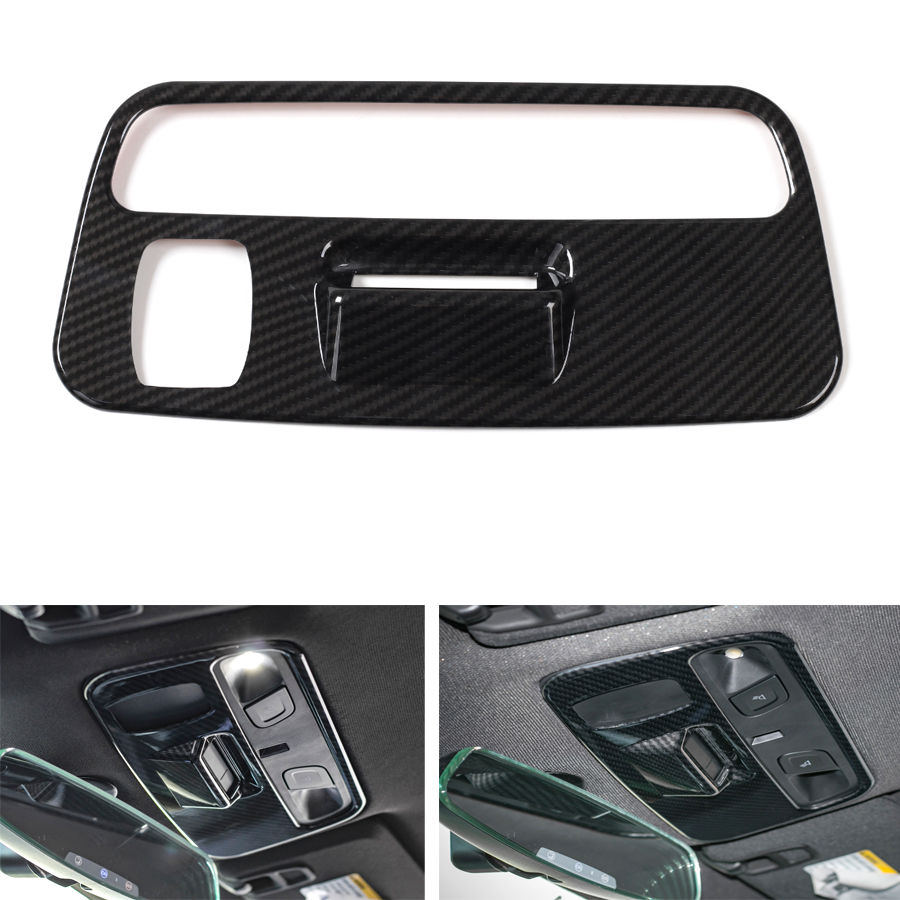 YAQUICKA Car Interior Roof Reading Light Lamp Frame Trim Cover Styling Sticker For Chevrolet Camaro 2017+ ABS Accessories купить