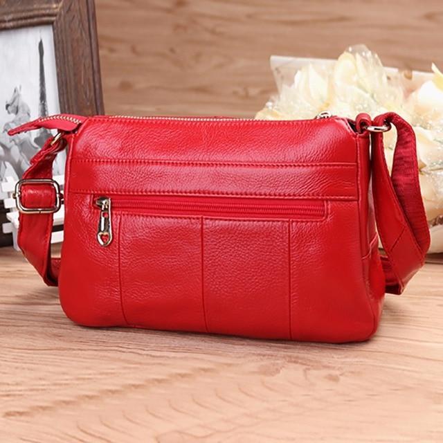 Genuine Leather Cowhide Cross Body Shoulder Bag Fashion Designer Casual Women Hobo Satchel Famous Brand Ladies Messenger Bags