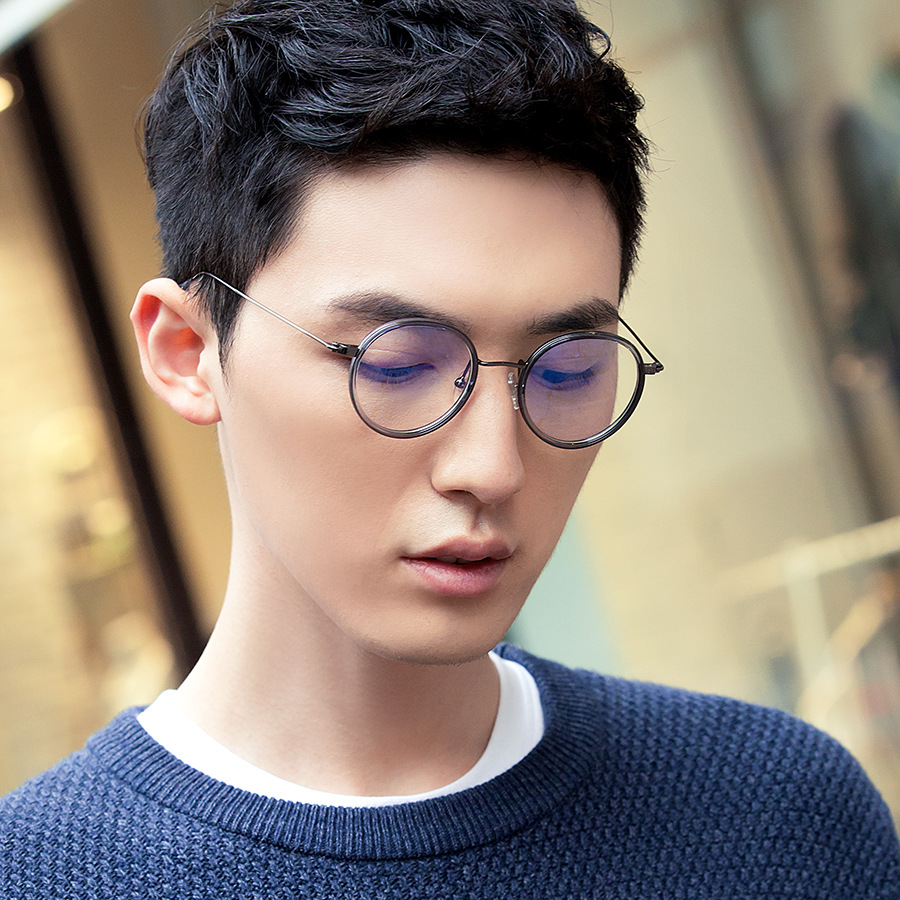 vazrobe tr90 vintage round eyeglasses frame men women retro clear glasses for female prescription small face