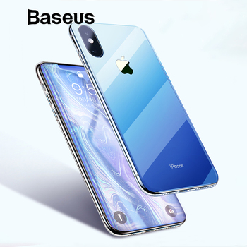 Baseus Luxury Plating TPU Case For iPhone Xs Max Ultra Thin Gradient Soft Silicone Case For iPhone Xs Xs Max XR 2018 Phone Cover