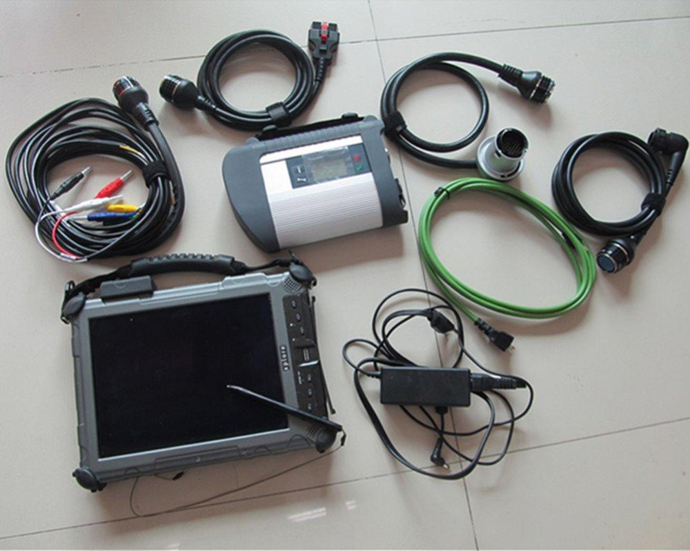 for Benz Sd connect c4 OBD2 Full Diagnostic Software v2017.09 Install On Car Diagnostic Tablet Xplore IX104 With I7 4GB DHL Free