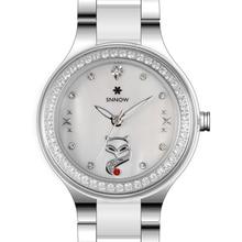 2016 CASIMA SNNOW sevies роскошные свободного покроя кварцевые часы женщины аналоговые часы Stianless стали часы Relogio Feminino 6004L