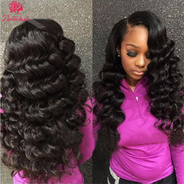 Loose Deep Wave Bundles With Closure Human Hair Bundles With Closure