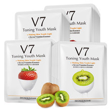 1PC Fruit Gezichtsmasker Supply Hydraterende Olie Controle Masker Apple & Strawberry & Kiwi & Oranje Fruit Sheet Masker huidverzorging(China)