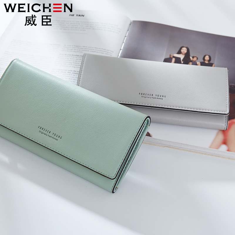 Free shipping 2017 new arrival fashion women wallets brand long wallet  PU leather solid color high quality change purse