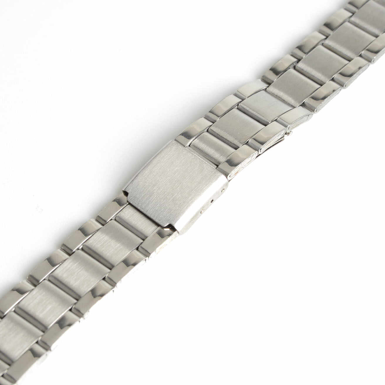 Men Women 16mm Silver Color Stainless Steel Watch Band Strap Bracelet Straight End For Dress Watch hot sale new SB0509