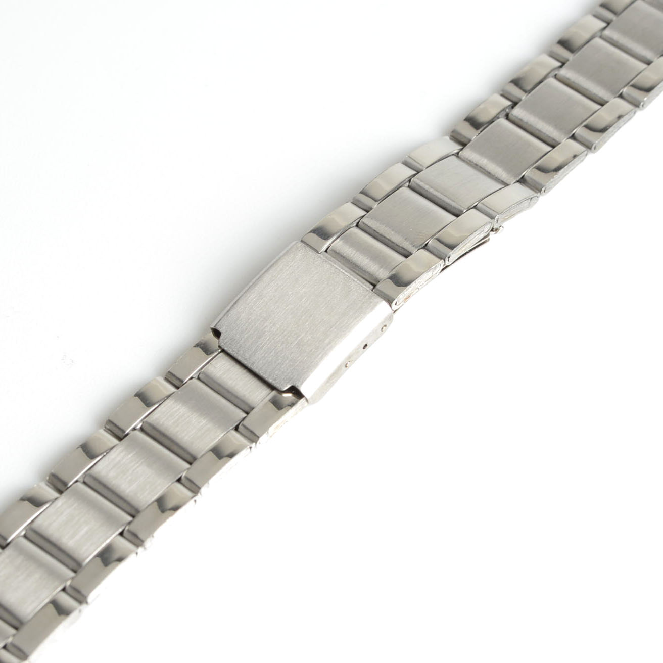 Men Women 16mm Silver Color Stainless Steel Watch Band Strap Bracelet  Straight End For Dress Watch