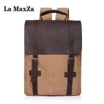 La maxza рюкзак оптовая продажа плеча холщовый мешок 4 цвета рюкзаки