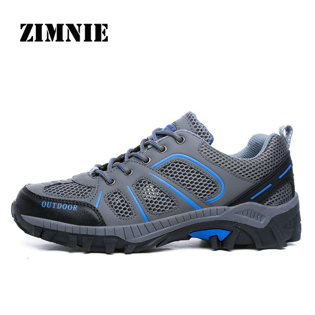 ZIMNIE Outdoor Sport Hiking Shoes Tactical Shoes For Men Lightweight Walking Shoes Upstream Shoes For Summer Big Plus Size 36~45