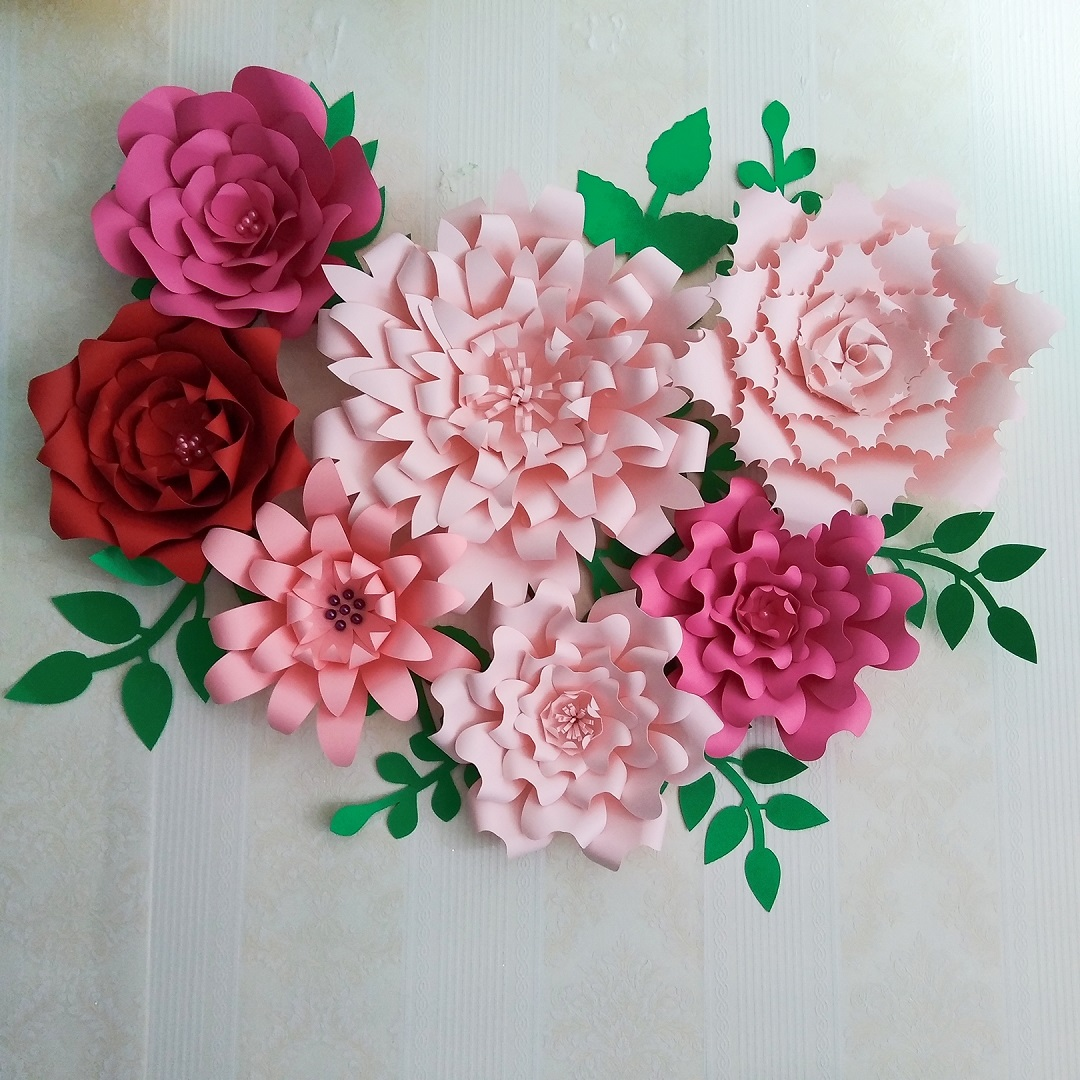 2018 Diy Giant Paper Flower Full Kits With Tutorials For Wedding
