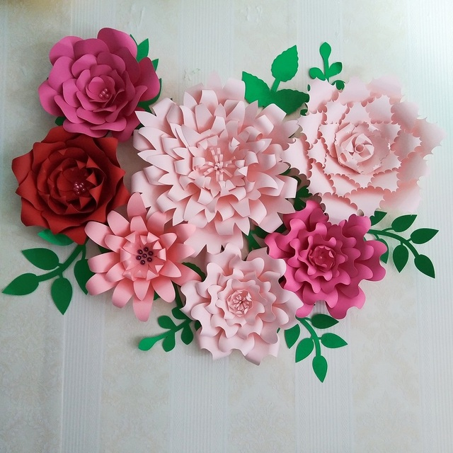 2018 large giant paper flowers half made paper flower full kits 2018 large giant paper flowers half made paper flower full kits giant rose flower for baby mightylinksfo Images
