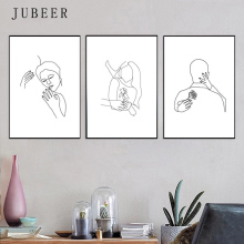 Couple Print Set Of 3 Love Poster Kissing Hug Posters and Prints Art Romantic Canvas Painting Gifts Single Line Drawing