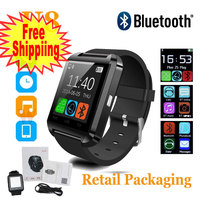 Black Bluetooth Android Smart Mobile Phone U8 Wrist Watch Watches For IOS IPhone Samsung LG Watch