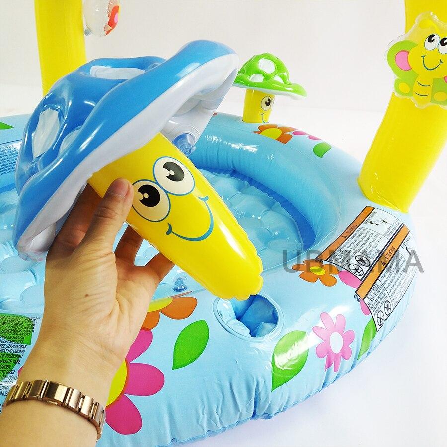 Piscine gonflable pour enfants avec auvent pour bébé bassin de piscine champignon piscine pour bébé piscine de jeux d'eau pour enfants - 4