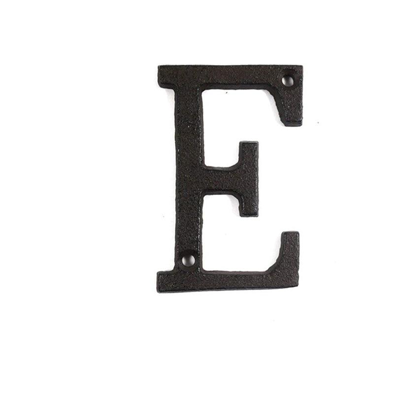 Dropshipping Металлические Буквы Числа Чугун Украшение Дом Знак Табличка Для Завода DIY Кафе Стены