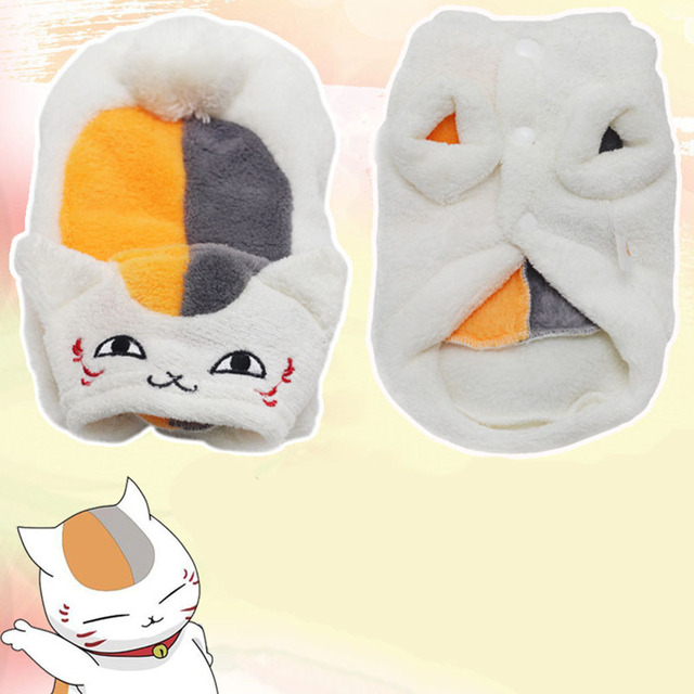 Comfort Coral Velvet Cat Clothes Cute Japanese Style Cat Clothing Warm Coat Kitten Pet Small Dog Puppy Costume in Autumn Winter
