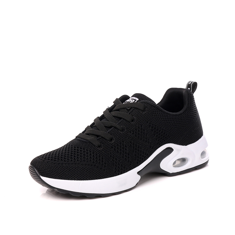 2018 Black Woman Running Shoes Air Cushion Women Sports Shoes scarpe uomo running Knit Fresh Vamp Sneakers Female Gray Shoe 7 женские кеды golden goose shoes 2015 ggdb uomo scarpe scollate