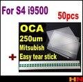 50 unids 5.0 pulgadas 250um OCA optical adhesive para Samsung Galaxy S4 i9500