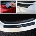Искусственная кожа  углеродное волокно  Стайлинг  автомобильные аксессуары  задний бампер  багажник  защитная пластина для Fiat Tipo