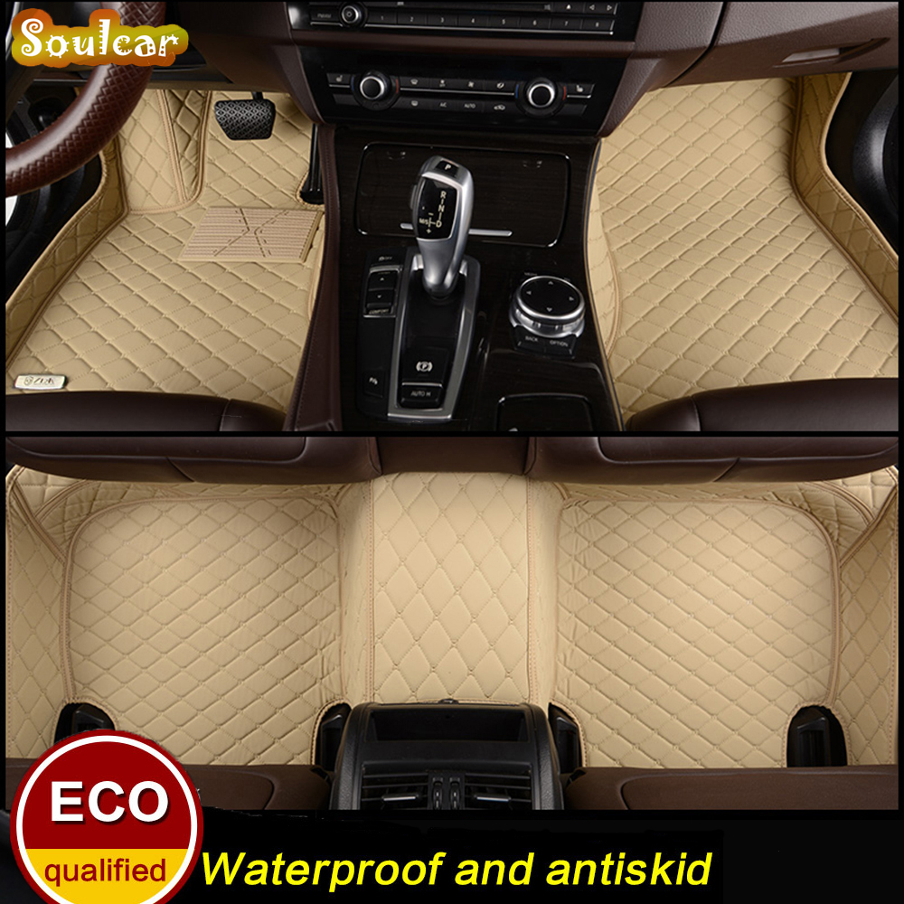 Custom fit Car floor mats for AUDI A6 S6 RS6 C5 C6 C7 A6 allroad 2000-2017 car floor foot carpet liners mats