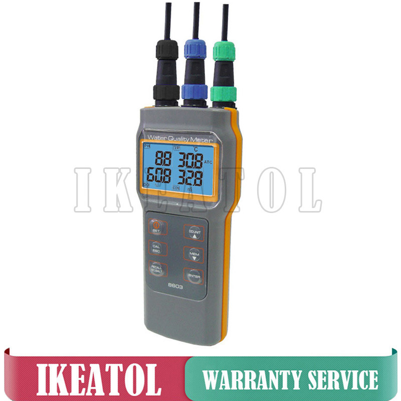 AZ86031 Digital Water Quality Meter Handheld PH/Conductivity/Salinity/Dissolved Oxygen/Temperature Testing Device Aquaculture az86031 online dissolved oxygen meter with water quality dissolved oxygen tester ph meter conductivit salinity